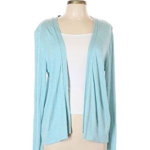 Old Navy Open Cardigan Heathered Teal Aqua
